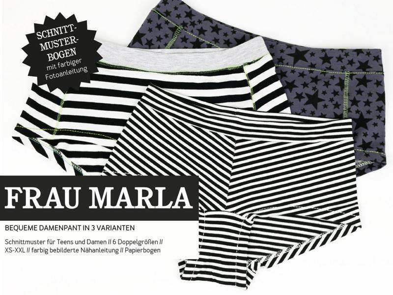Ms. Marla women's pants sewing pattern paper studio ready to cut Stofftraeume4you cover