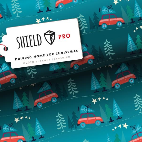 Shield Driving Home for Christmas Hamburger Liebe Albstoffe Stofftraeume4you