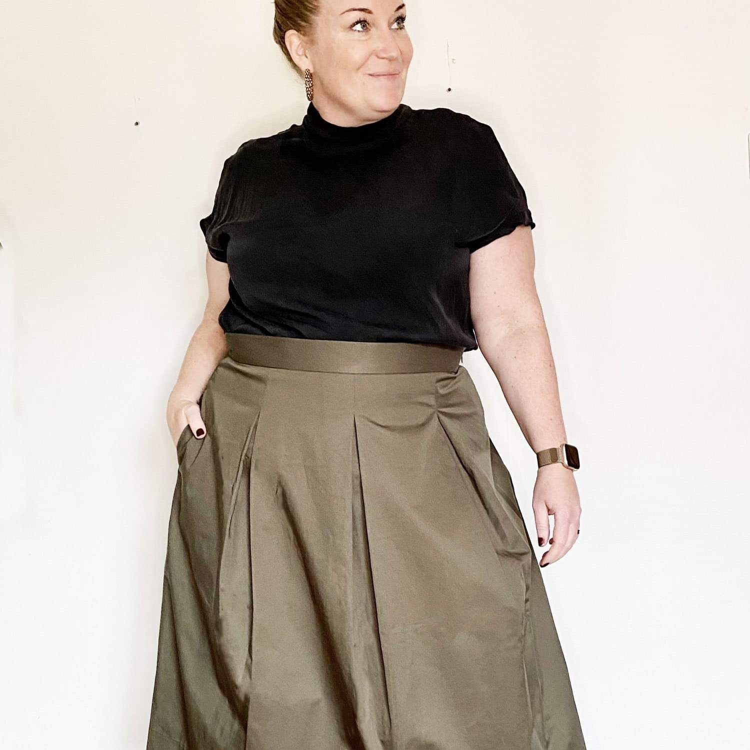Three Pleat Skirt XL-3XL Papierschnittmuster The Assembly Line Stofftraeume4you