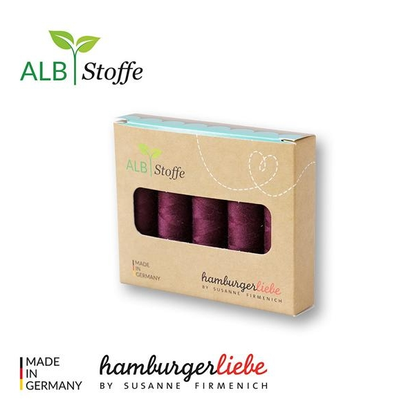Yarn box 5 packshot A18 Bordeaux Hamburger Liebe Albstoffe Stofftraeume4you