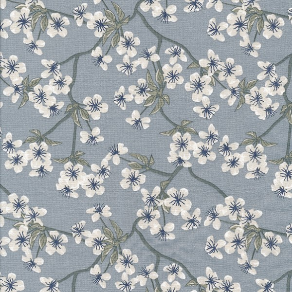 Oilcloth Amalie Dusty Blue 900-140-077-019-1 Au Maison Stofftraeume4you