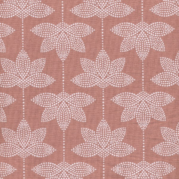 Oilcloth Lotus Burned Rose 900-140-061-543-1 Au Maison Stofftraeume4you