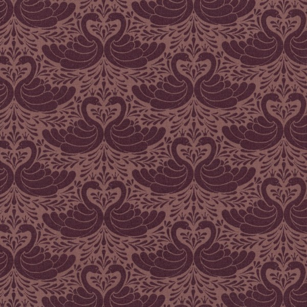 Oilcloth Swan Bordeaux Rose 900-140-069-728-1 Au Maison Stofftraeume4you