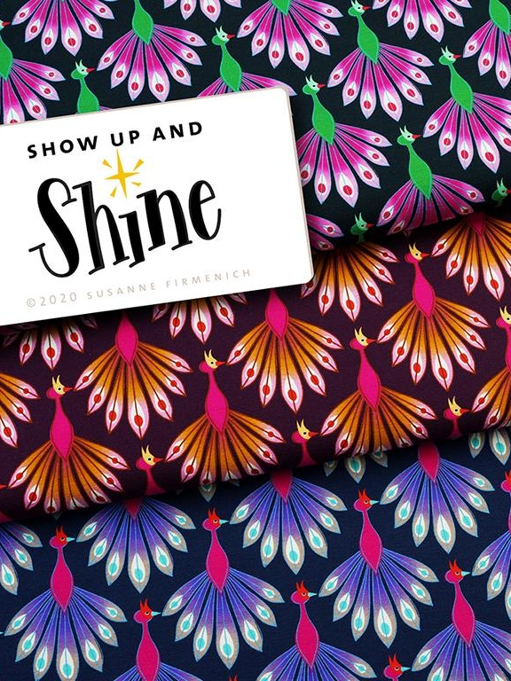 Bio-Jersey SHOW UP AND SHINE alle Hamburger Liebe Stofftraeume4you Albstoffe