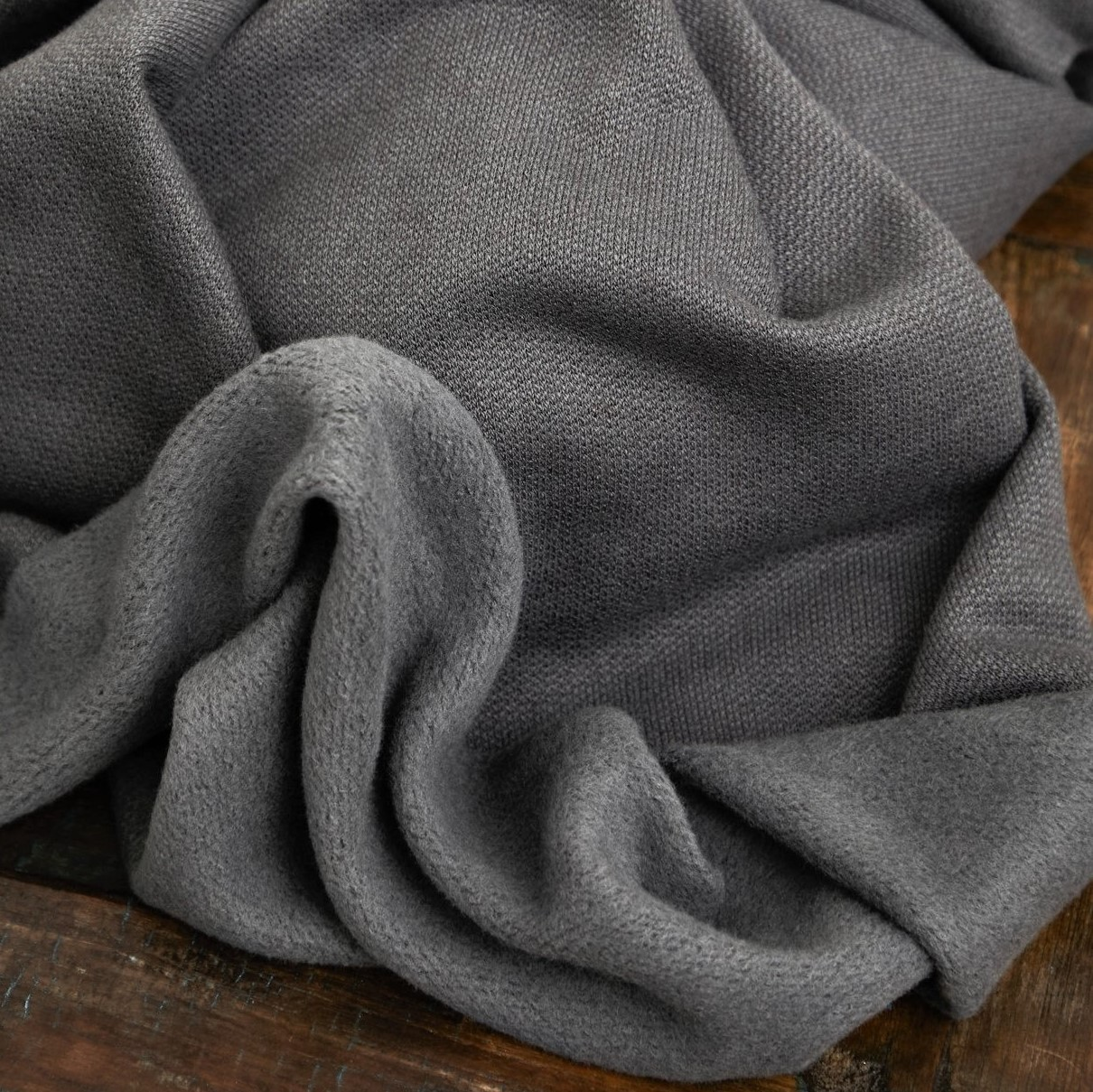 Organic Woolen Fleece Sweat Calm Gray Mind the Maker Stofftraeume4you