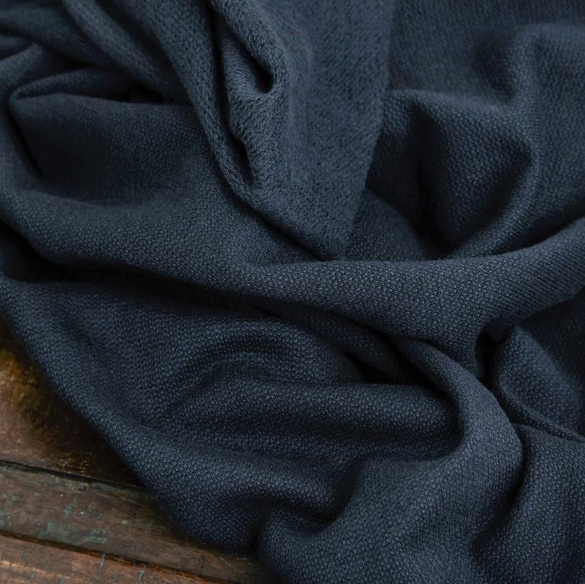 Organic Woolen Fleece Sweat Indigo Night Mind the Maker Stoffdream4you (2)