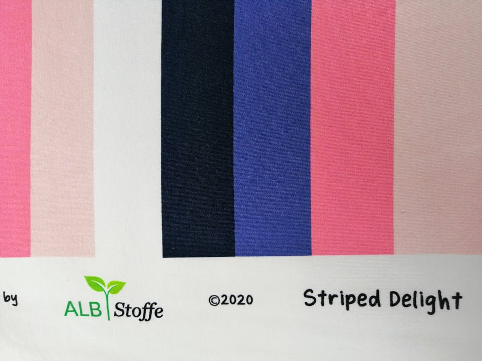 Organic Sweat Striped Delight Clearwater Stofftraeume4you ALBSTOFFE Selvage
