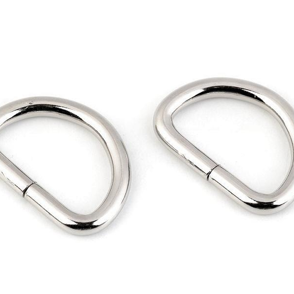 D-ring nickel silver 25mm thread hole Stofftraeume4you