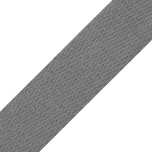 Cotton webbing gray 25mm Stofftraeume4you