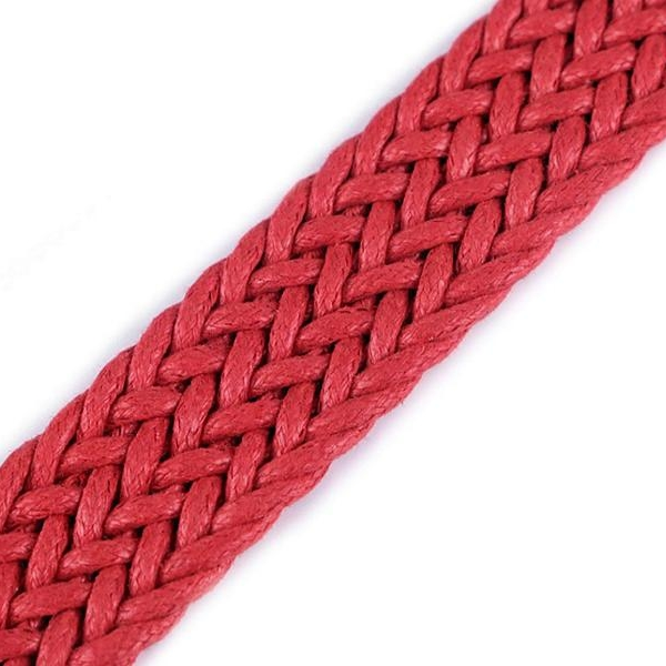 Cotton webbing RED BRAIDED 25mm Stofftraeume4you