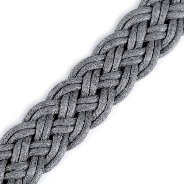 Cotton webbing braided GRAY 20mm Stofftraeume4you