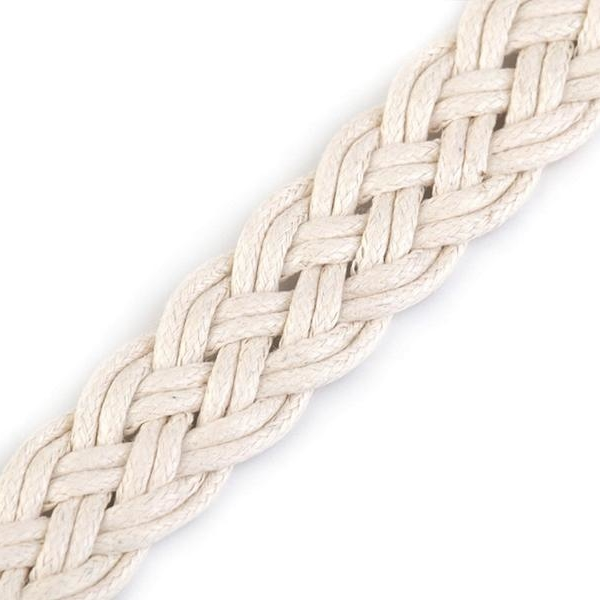 Webbing cotton braided NATURAL 20mm Stofftraeume4you