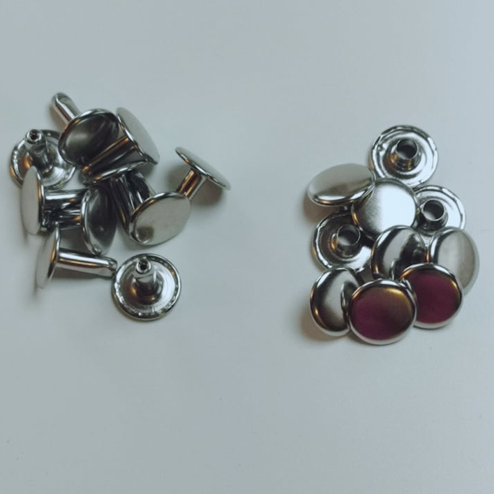 Hollow rivets 10mm silver closed on both sides Stofftraeume4you