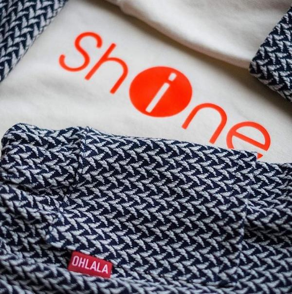 Knit In and Out Shine Navy Frau Ava Hamburger Liebe Albstoffe Stofftraeume4you Detail