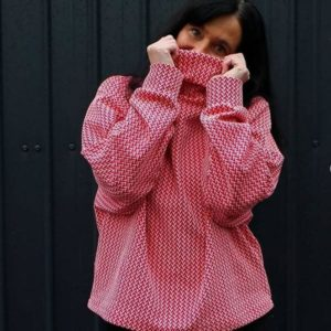Knit In and Out Shine Rot Hamburger Liebe Albstoffe Stofftraeume4you 1