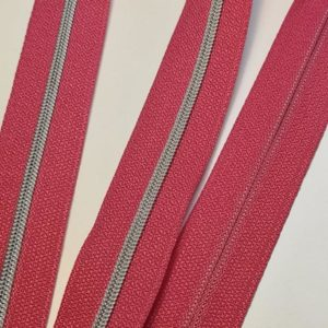 Metallized zipper 054 Kiroyalrosè narrow silver Stoffdreams4you