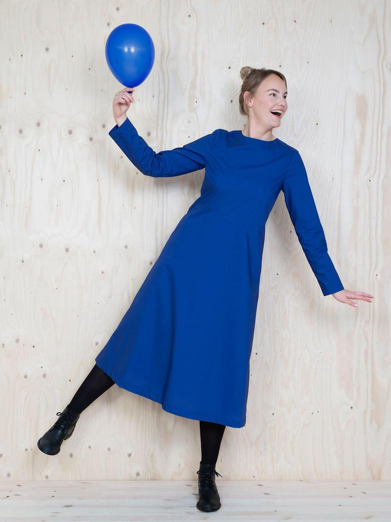 Multi Sleeve Midi Dress paper pattern The Assembly Line Stofftraeume4you