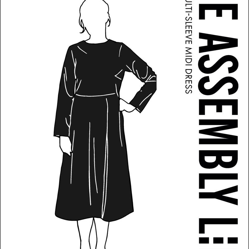 Multi Sleeve Midi Dress Papierschnittmuster The Assembly Line Stofftraeume4you