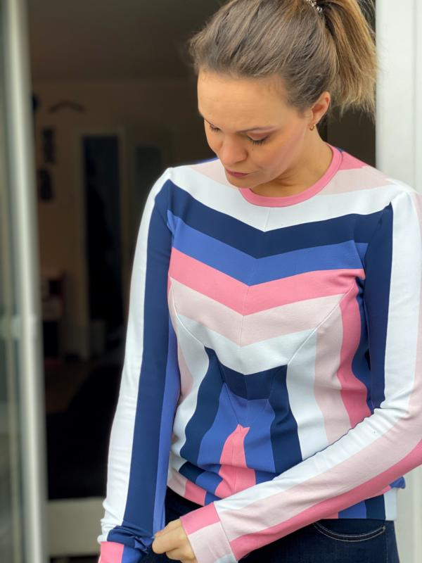 Striped Delight Clearwater organic sweat Stofftraeume4you ALBSTOFFE Berliner Naehkaestchen