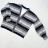 Striped Delight Mono Bio-Sweat Stofftraeume4you ALBSTOFFE Anlukaa Simijo Naehbeispiel Cardigan flat
