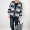 Striped Delight Mono Bio-Sweat Stofftraeume4you ALBSTOFFE Anlukaa Simijo Naehbeispiel Cardigan