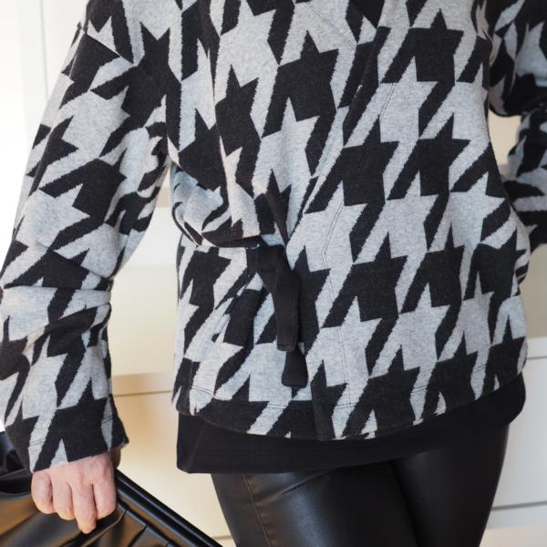 Giant Houndstooth gray black cuddly jacquard Stofftraeume4you ALBSTOFFE Ms. Maerz sewing example (3)