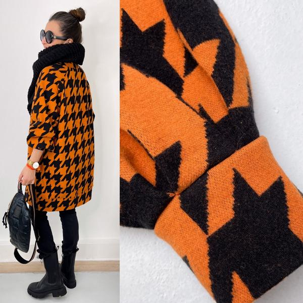Giant Houndstooth Nepal Black cuddly jacquard Stofftraeume4you ALBSTOFFE Anlukaa sample back