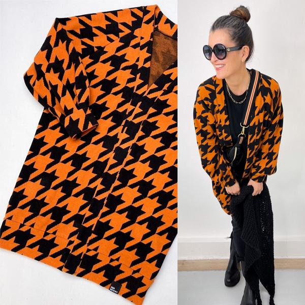 Giant Houndstooth Nepal Black cuddly jacquard Stofftraeume4you ALBSTOFFE Anlukaa example