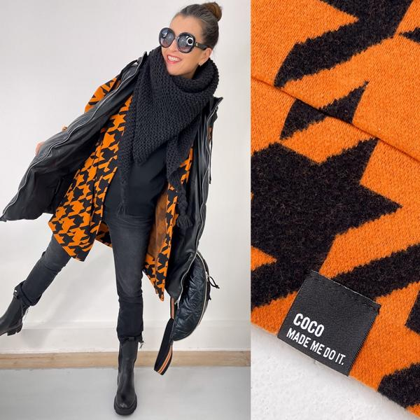 Giant Houndstooth Nepal Black cuddly jacquard Stofftraeume4you ALBSTOFFE Anlukaa example close