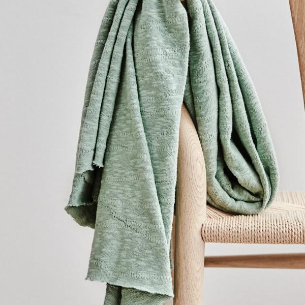 Organic Slub Jacquard Sage Green Stuhl Mind the Maker Stoffträume4you