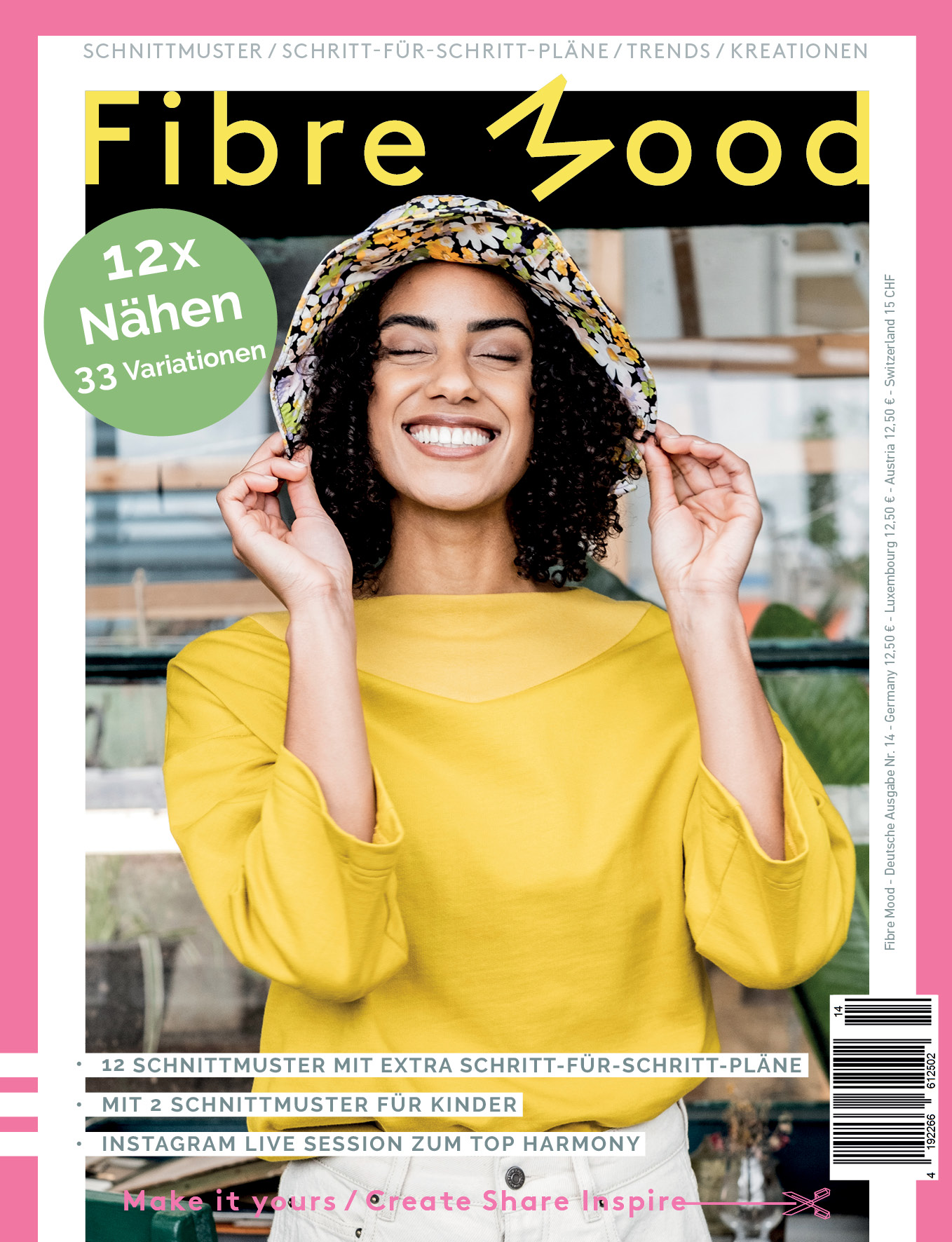 FIBRE MOOD 14 Schnittmuster Magazin Pattern book patron magasin Stoffraeume4you