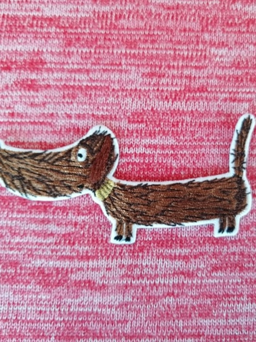 Patch Dachshund Bodo Lillemo Stofftraeume4you Brindy Red