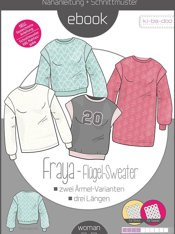 Paper pattern wing sweater FRAYA Kibadoo women Stoffträume4you