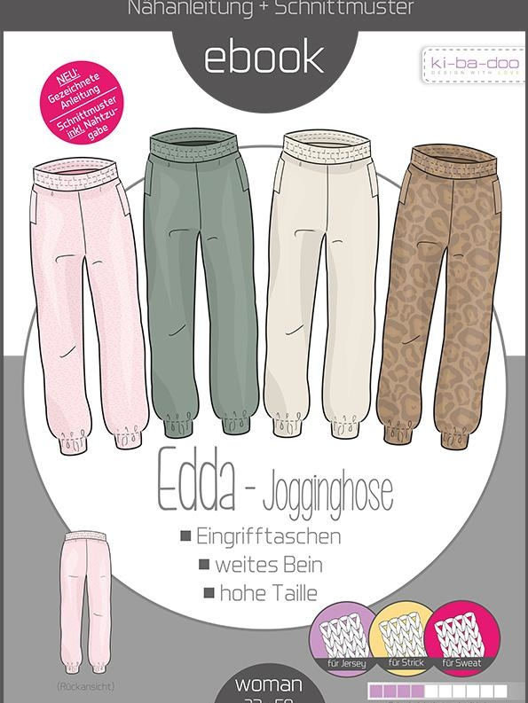 Paper sewing pattern sweatpants EDDA Kibadoo women Stoffträume4you