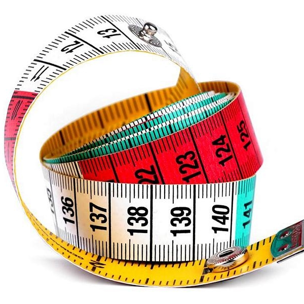 Tailor's tape measure, colorful with snap fastener Stoffträume4you Sewing aid