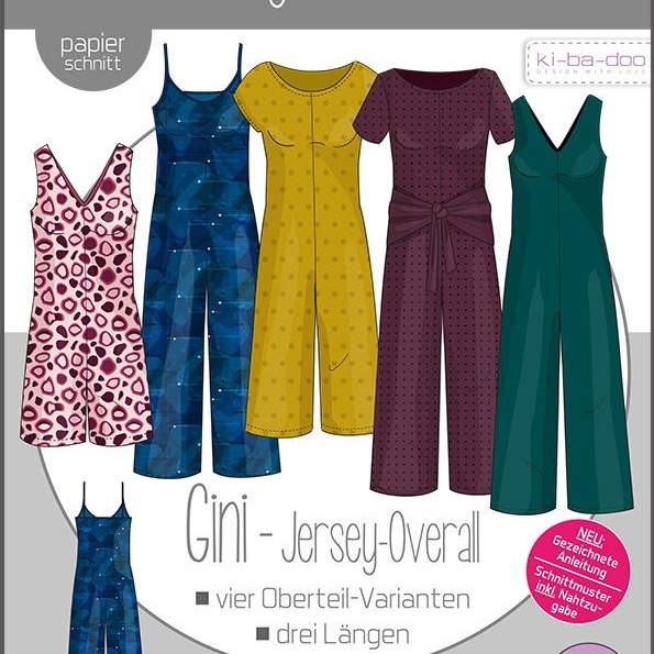 Sewing pattern jersey overall GINI Kibadoo Stoffträume4you