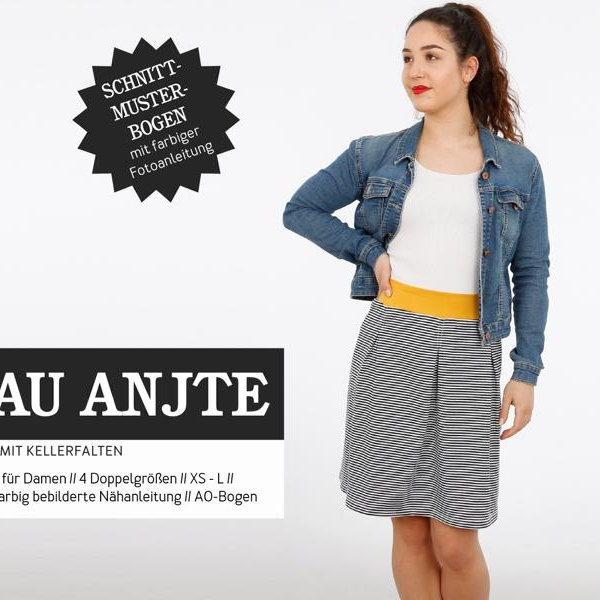 Sewing pattern jersey skirt Frau ANTJE Studio ready to cut Stoffträume4you Home