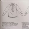 THE TIE BOW BLOUSE The assembly line TAL Stofftraeume4you Umschlag Skizze